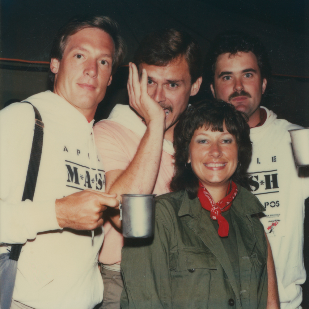 l-r: Jeff DeZellar; Steve Borsch; Rick Brestrup (woman in front is an unnamed Apple employee)