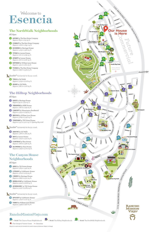 Image Result For Esencia Rancho Mission Viejo Map